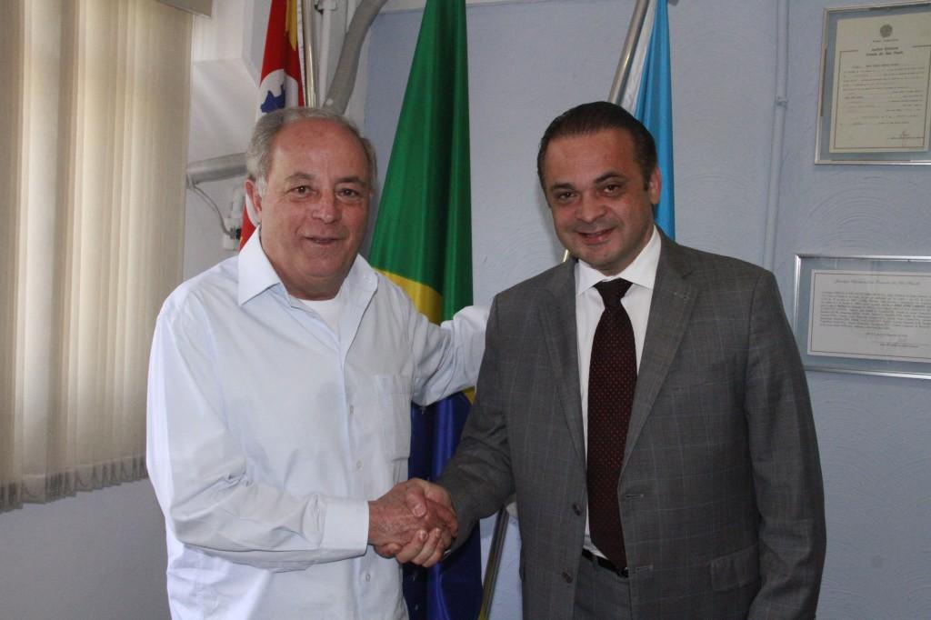 Prefeito Abel Larini e o deputado Roberto de Lucena