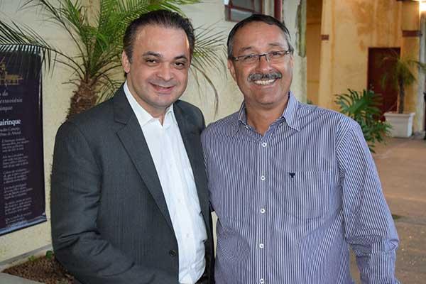 Roberto de Lucena e o prefeito de São Roque, Daniel de Oliveira Costa