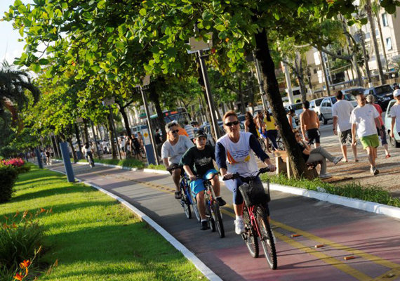 Santos é a Cidade Amiga da Bicicleta