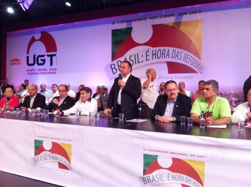 Roberto de Lucena no Congresso Nacional da UGT