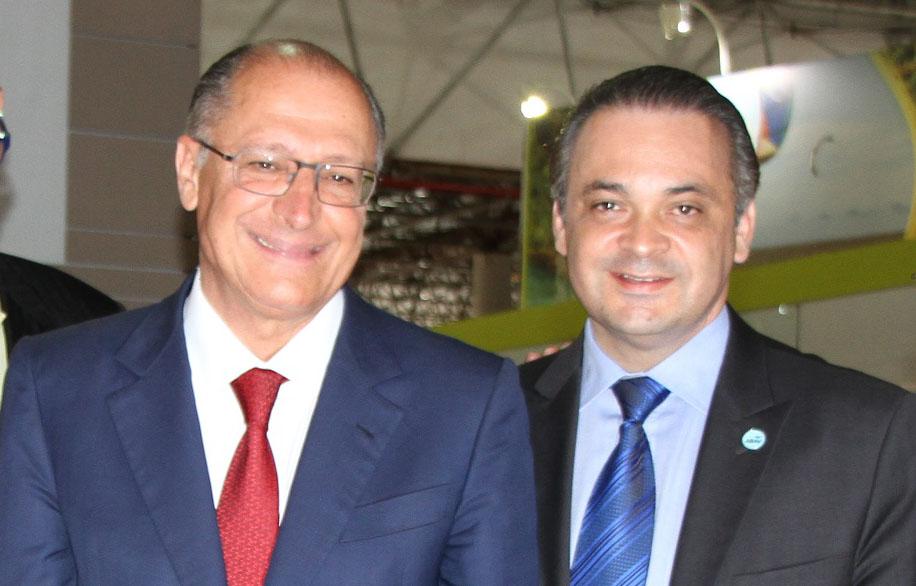 Governador Geraldo Alckmin e o secretário Roberto de Lucena