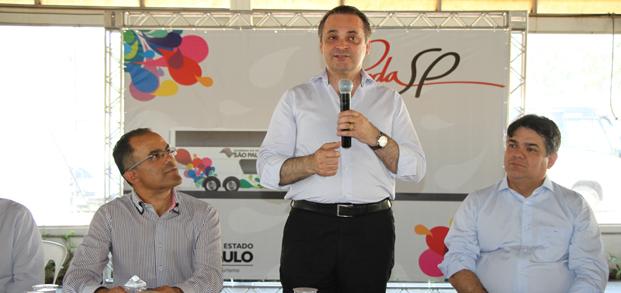 Secretário Lucena no lançamento do Roda SP
